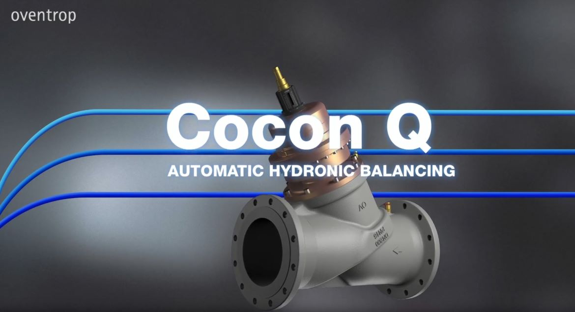 "The pressure independent control valve ""Cocon QTZ"" with automatic flow control"