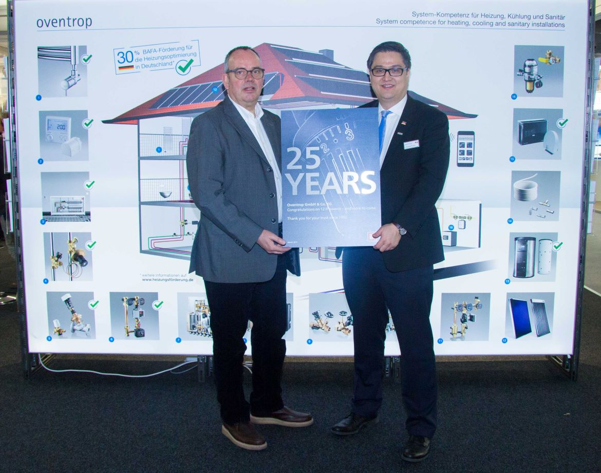Oventrop was honoured for 25 years of Design Award experience