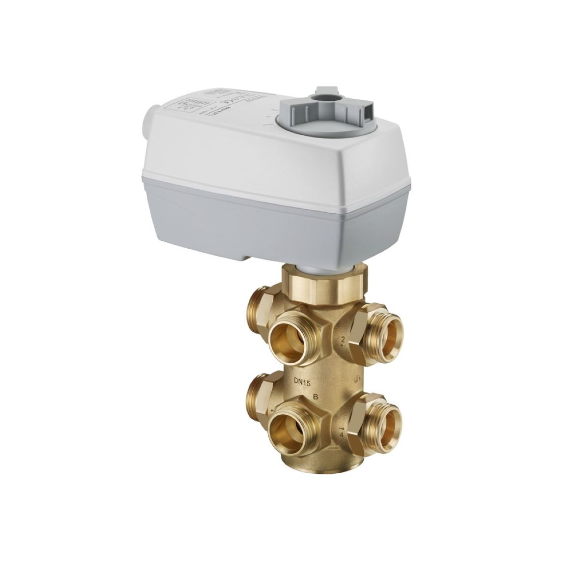 """Optibal W6"" Six-way ball valve for heating/cooling operation control"