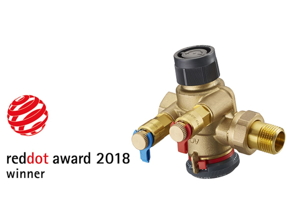 "The pressure independent control valve ""Cocon QTZ"" receives the ""Red Dot Award: Product Design 2018"""