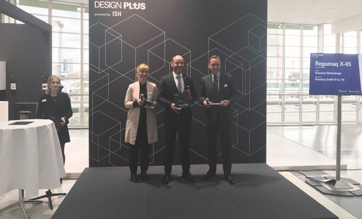 "ISH launch ""Regumaq X-45"" receives the ""Design Plus Award"" at the beginning of the fair"