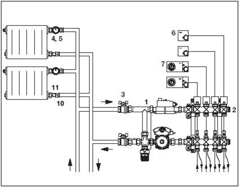 Temperatura Mandata Impianto A Pavimento schemi impianti - oventrop