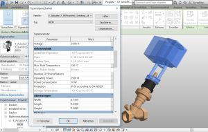 "BIM data of a PICV valve ""Cocon QTR"" including actuator"