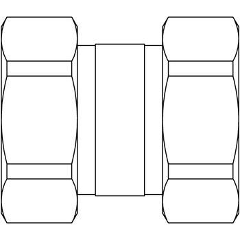 Doppelverschraubung für Kesselverrohrung beiderseits G 1 ÜM ...