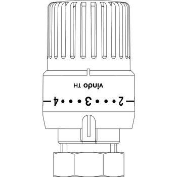 Thermostat Vindo Th 7 28 C 0 1 5 Bulbe Liquide Modele Blanc