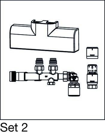 anschluss set f r badheizk rper multiblock t rtl sh. Black Bedroom Furniture Sets. Home Design Ideas