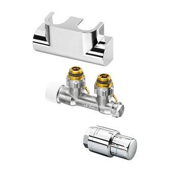 Multiblock T//Uni SH Oventrop Anschlussset Multiblock T Durchgang weiß