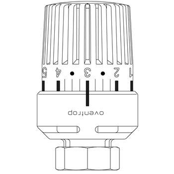 Oventrop Thermostatkopf UNI LA Flüssigfühler weiss Nullstellung 28 x 1,5 1613401