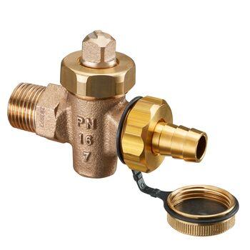 Turbo KFE-Hahn Schwermodell DN 15, R ½ AG, PN 16, Rotguss, DIN 3848 FN73
