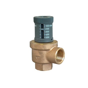Differential pressure relief valve DN 20, PN 10, with dp indicator ...