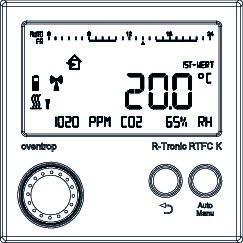Thermostat radio R Tronic RTFC K avec affichage de la température  #111212