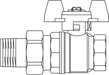 kugelhahn optibal fl gelgriff dn 32 rp 1 und verschr mit ag pn 16 ms oventrop gmbh. Black Bedroom Furniture Sets. Home Design Ideas