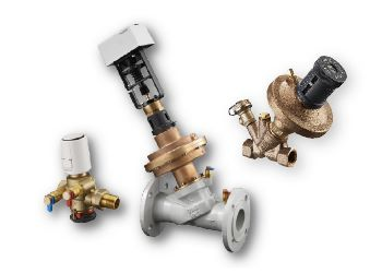 Hydronic balancing in heating and cooling systems