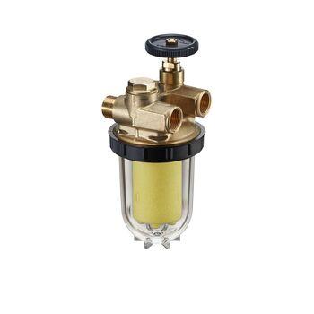 Oventrop Heiz/ölfilter Zweistrang Oilpur mit Absperrventil 3//8 IG x 3//8 AG